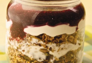 Muesli with Raspberry and Blueberry Coulis by Chef Beth McWilliam, Fresh Café