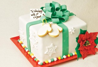 Red velvet winter cake by Chefs Doug Krahn and Betty Lai of Chocolate Zen Bakery