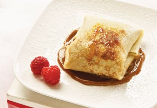 Caramel crepes by Chef Michael Day of Hermanos