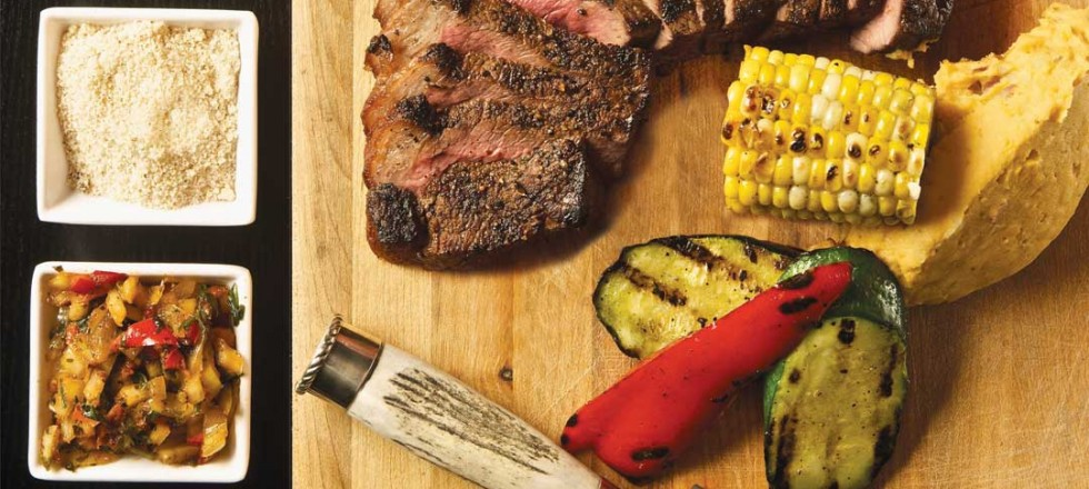 Picanha Steak with Chimichuri and Farofa by Chef Michael Day of Hermanos