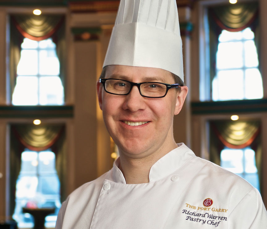 Pastry Chef Richard Warren of The Fort Garry Hotel