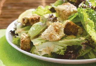 Vegan Caesar Salad by Collective member Esan Azore, Mondragon Bookstore & Coffeehouse