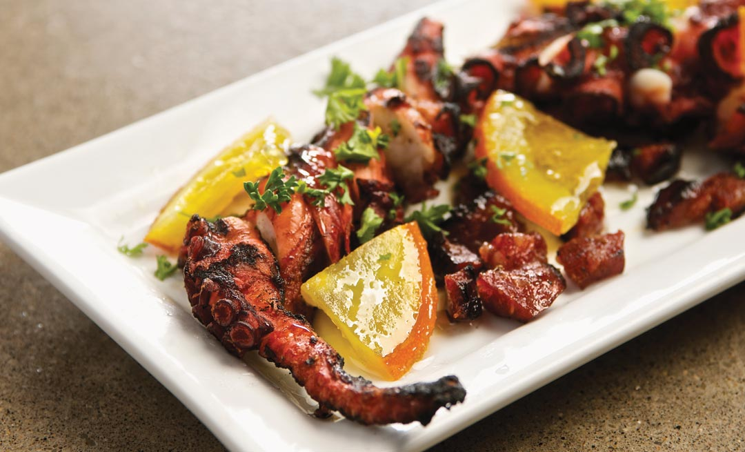 Grilled Octopus with Orange and Chorizo