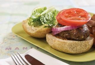 Bison Burger by Chef Beth McWilliam of Fresh Café