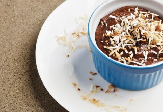 Chocolate Coconut Pudding with Lime Syrup by Chef Alexander Svenne of Bistro 7 1/4