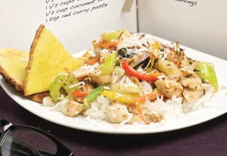 Curry Chicken Stir-Fry with Coconut Rice by Chef Gord Harris of Prairie Ink Restaurant and Bakery