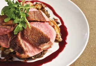 Duck Breast with Potatoes and Wild Mushrooms by Chef Alexander Svenne of Bistro 7 1/4