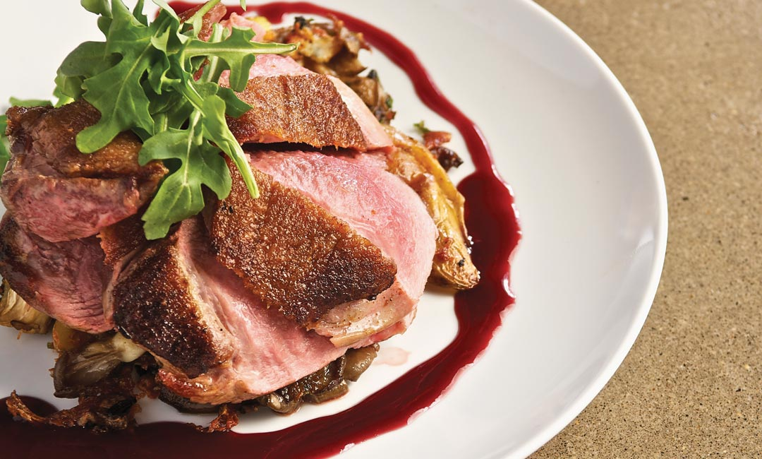 Duck Breast with Potatoes and Wild Mushrooms