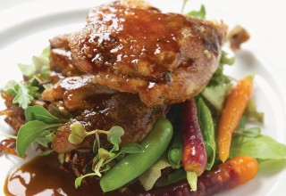 Duck with Sea Buckthorn Demi-glaze by Chef Lorna Murdoch of fusion grill