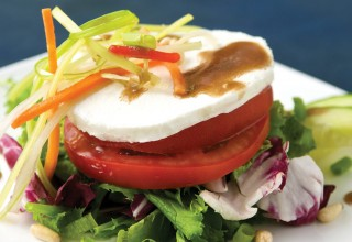 Warm Goat Cheese Salad by Chef David Hyde of Cafe Carlo