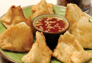 Deep-Fried Tom Kah Chicken Dumplings by Chef Pongtron Pongsumana of One Night in Bangkok