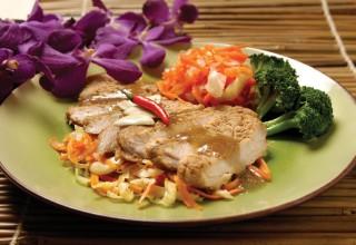 Pepper Pork Steak by Chef Pongtron Pongsumana of One Night in Bangkok