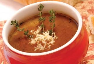 Cream of Onion Soup by Chef Justin Bohémier of La P'tite France
