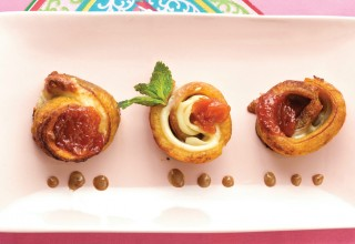 Plantains with Provolone and Guava by Chef Dario Pineda-Gutierrez of Café Dario
