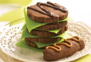 Chocolate Cookie Duo by Belinda and Carol Bigold of High Tea Bakery