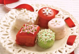 Holiday Petit Fours by Belinda and Carol Bigold of High Tea Bakery