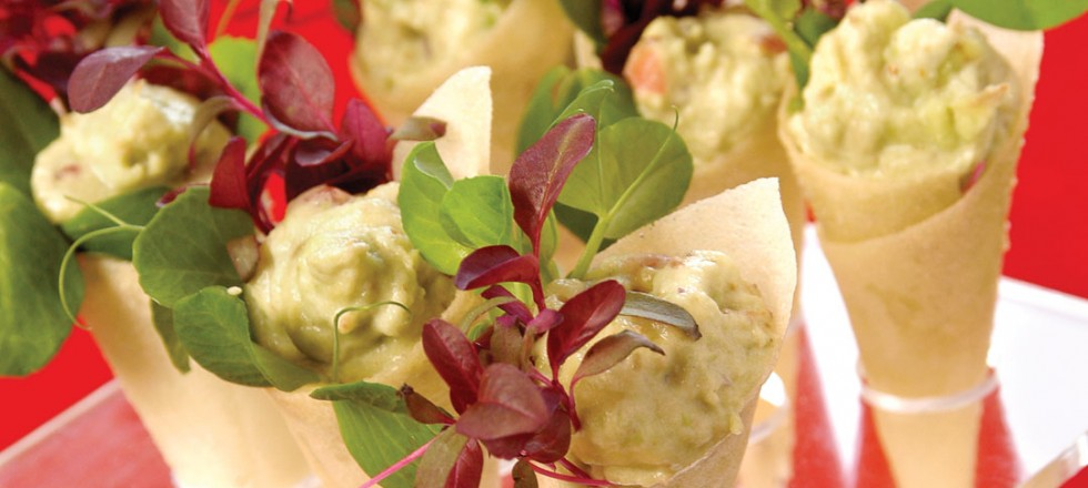 Avocado Mousse Cornets by Sous chef Cameron Huley of St. Charles Country Club
