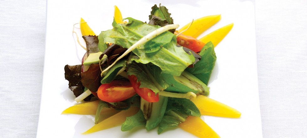 Avocado, Mango Salad, Red Curry Vinaigrette by Chef Alan Shepard of Step'N Out