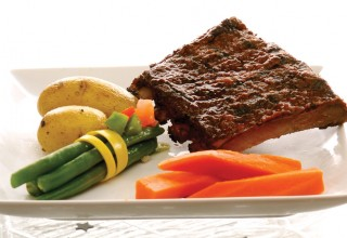 Brooks & Dunn's Maple Whiskey Pork Spare Ribs by Chef Roger Wilton of MTS Centre