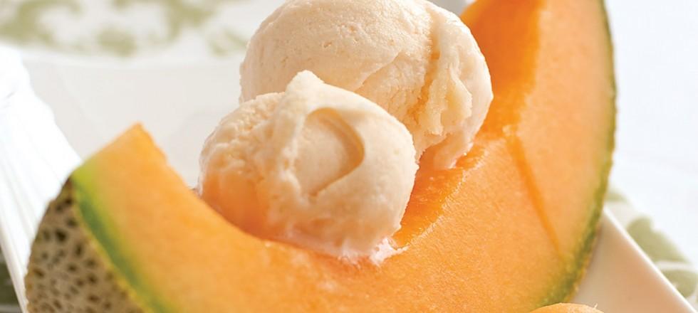 Cantaloupe Sorbet by Chef Heiko Duehrsen of The Gates on Roblin