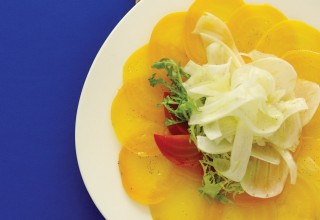 Golden Beet Carpaccio with Fennel Salad by Chef Barry Saunders of The Current