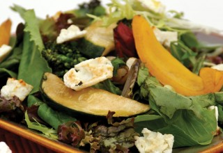 Grilled Summer Vegetable Salad with Baked Feta by Owner/baker Tom Janzen, Bread & Circuses