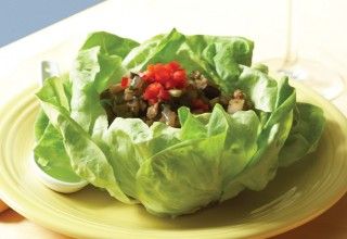 Lettuce Wraps by Executive Chef Tristan Foucault, formerly of Hu's on First Asian Bistro
