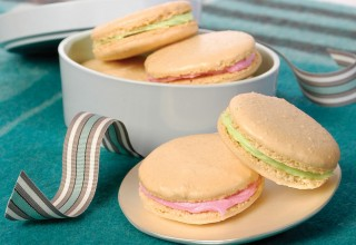 Peppermint Macaroons by David Corby and Kristin Fillingham of Something Sweet