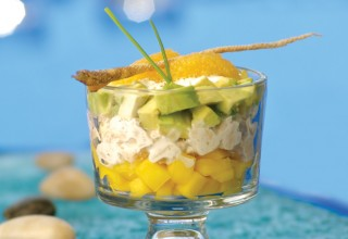 Trout Trifle with Horseradish Dressing by Chef Barry Saunders of The Current