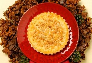Zesty Pine Nut and Ricotta Tart