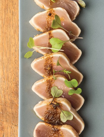 Albacore Tuna a la Plancha, Mojo Rojo, by Chef Adam Donnelly of Segovia
