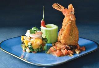Prawns Two Ways by Chef/owner Dario Pineda-Gutierrez of Cafe Dario