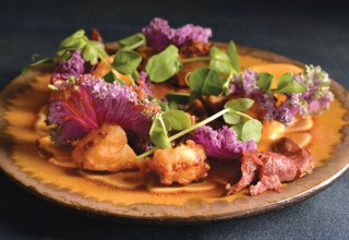Roast Butternut Squash and Beef Tataki Salad by Chef/owner Scott Bagshaw of Deseo Bistro