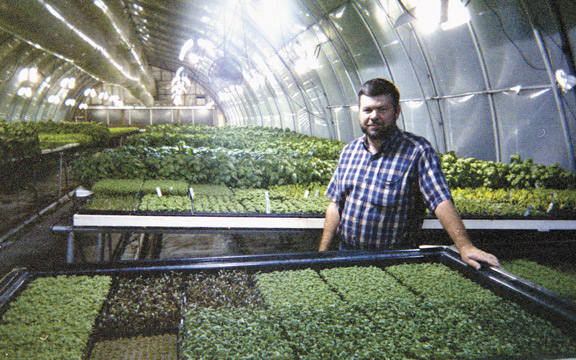 Neva Hydroponic Farms, Pat (pictured) and Cammie Wohlgemuth
