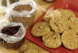 Cranberry spelt and flax cookies by Baker/Owner Tom Janzen of Bread & Circuses Bakery