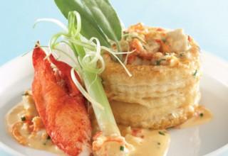 Free range chicken and lobster ragoût in puff pastry baskets by Executive Chef Jason Gower of Delta Winnipeg's Blaze Bistro