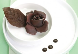 chocolate rose by Chef Helmut Mathae, Pastry instructor at Louis Riel Arts & Technology Centre