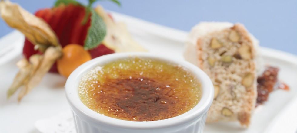 Asparagus Vanilla Crème Brûlée by Chef Lau Young of Provence Bistro