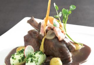 Coq au Vin by Chef Bernard Mirlycourtois of Brasserie Mirlycourtois
