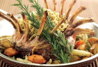 Crown Roast Rack of Lamb with Lemon Pepper Spaetzle by Chef Patrick Shrupka of Amici