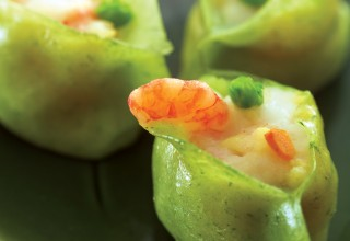 Green Deluxe Shrimp Dumpling by Chef Ming Chen and Chef Geoffrey Young of Kum Koon Garden