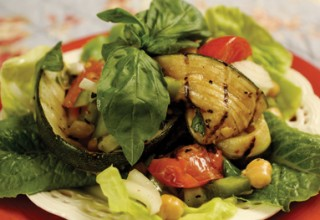 Grilled Zucchini Tomato Salad by Owner/General Manager Marnie Feeleus of Fresh Option Organic Delivery
