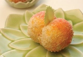 Italian Peach Wedding Cookies Cooking School Director by Tony De Luca of De Luca's