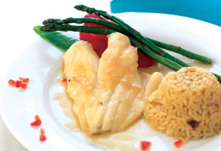 Orange Roughy with Scampi Sauce by Chef Arnold Carreira of Orlando's