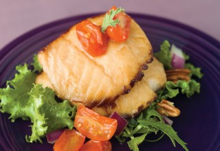 Pan-Seared Pike with Candied Tomatoes by Chef Ben Kramer of Lux Solé