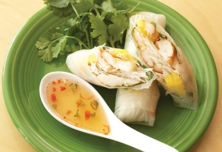 Summer rolls by Executive Chef Tristan Foucault of Hu's on First