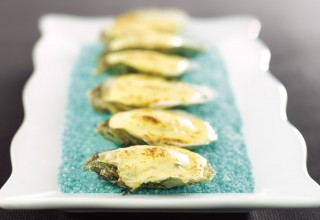 Huitres de Colville Bay au Champagne by Chef Bernard Mirlycourtois of Mirlycourtois' Brasserie