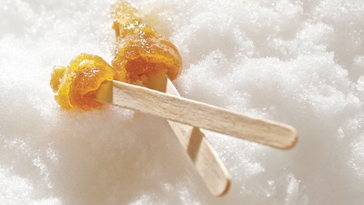 Maple Syrup Taffy Pops