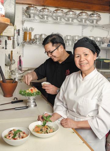Chef Toui Savangsengouthay and husband Vileth Savangsengouthay, Bangkok Thai