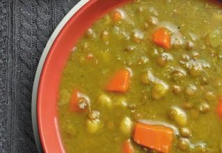 Curried Pea Bean & Lentil Soup by Chef/owner Maria Bernstein, Bernstein's Deli